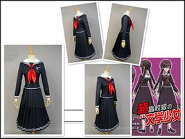Danganronpa: Trigger Happy Havoc Pleated Long Skirt School Uniform Cospl... - $51.99