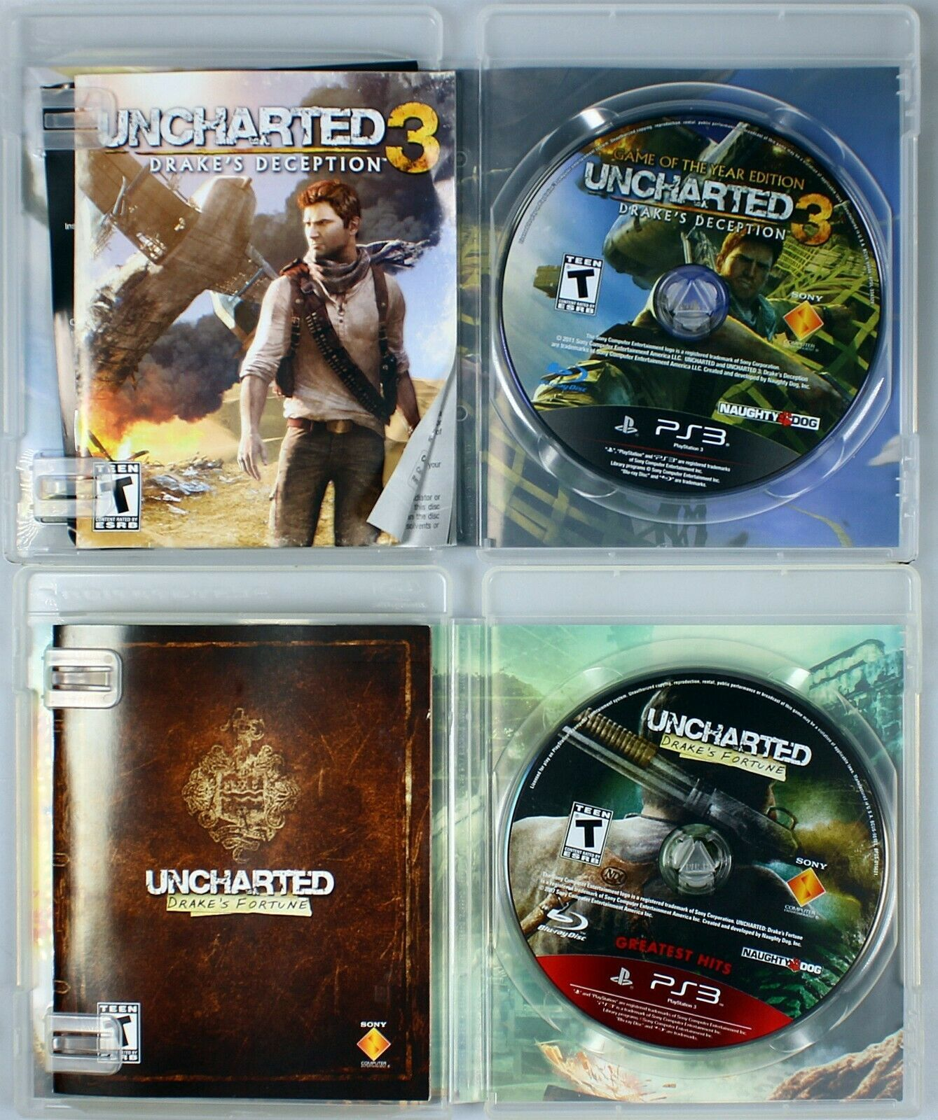 Drakes Fortune Uncharted deception lot of 2 games Sony Play station 3 PS Game image 3