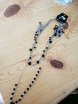 996 Silver W/ Black Beads Necklace Set (New) - $8.58