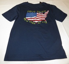 Polo Ralph Lauren Youth Boys short sleeve t shirt M 10-12 035001 Navy Bl... - $34.64