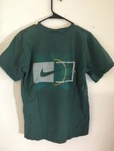 Vintage 90's Nike Tennis Swoosh Shirt Sz M Hunter Green Air Logo Made in USA  - $20.90