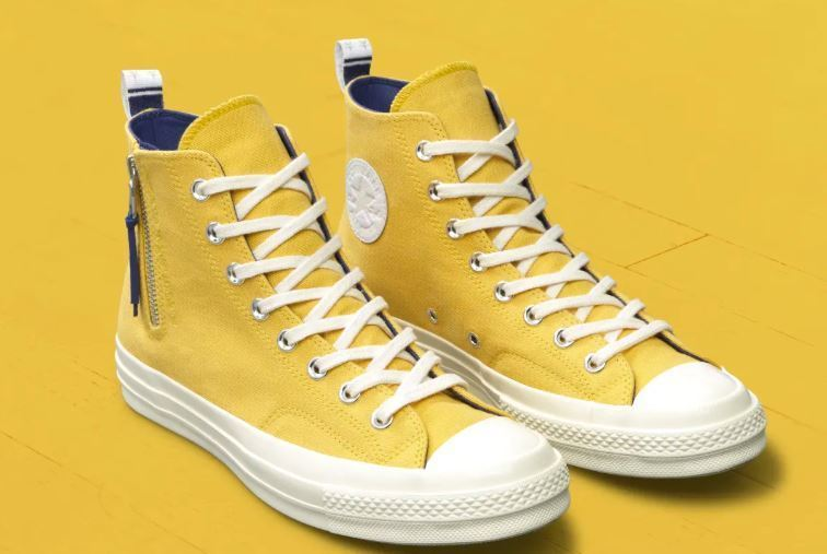 42017d07231a92 Converse NBA Discovered Los Angeles Lakers Yellow NBA Size 9 US UK 42.5 EU  Chuck