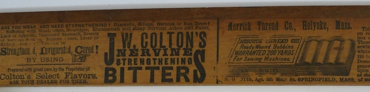 New England Clothing Co advertising ruler antique dressmaker