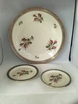 "Lot of 3 Rosenthal Moss Rose Selb Germany Sterling Rimmed Plates 12"" & 5... - $168.25"