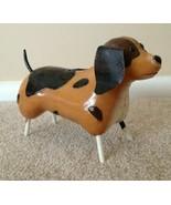 Puppy Dog Piggy Bank Metal Collectible Brown Black Childrens First Bank - $17.99