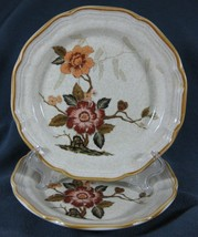 Mikasa EC459 Imperial Garden Lot of 2 Snack Salad Plates Garden Club Floral - $14.50