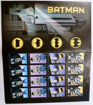 Batman 75th Anniversary USPS Postage Stamps Full Sheet 20 Forever Stamps Unused - $38.00