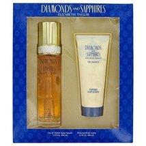 DIAMONDS & SAPHIRES by Elizabeth Taylor for Women. Gift Set -- 3.3 oz Ea... - $29.57