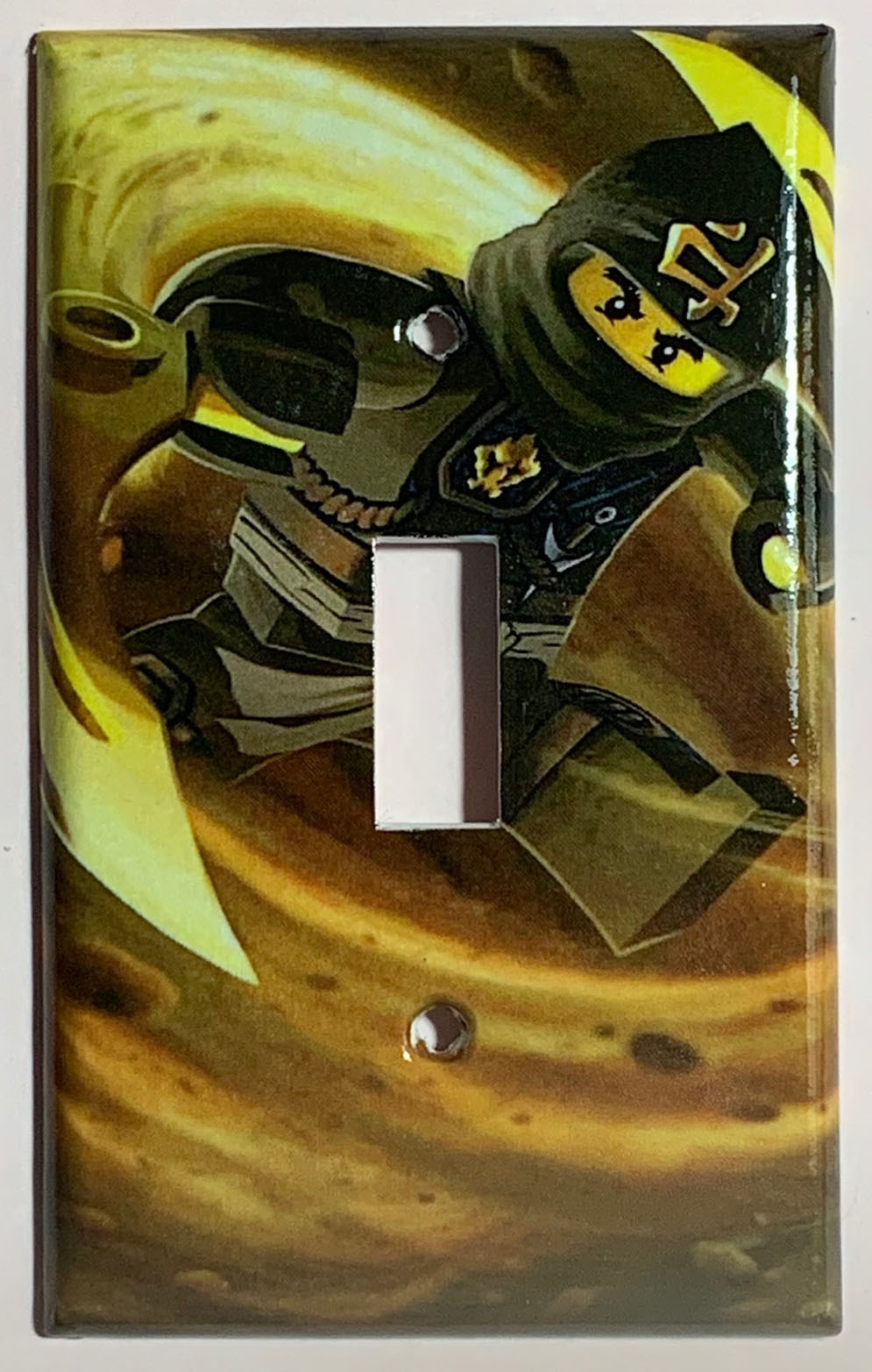 Ninjago COLE Black Light Switch Outlet duplex wall Cover Plate Home Decor