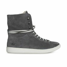 Ugg Starlyn Charcoal Nubuck Hight Top Sporty Women's Sneakers Size Us 9.5 New - $94.99
