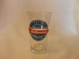 Budweiser World Balloon Party Albuquerque, NM Beer Pint Glass Clear 5.75... - $22.27
