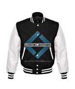Varsity  Black Wool Letterman Jacket Real White Leather Sleeves - $66.99