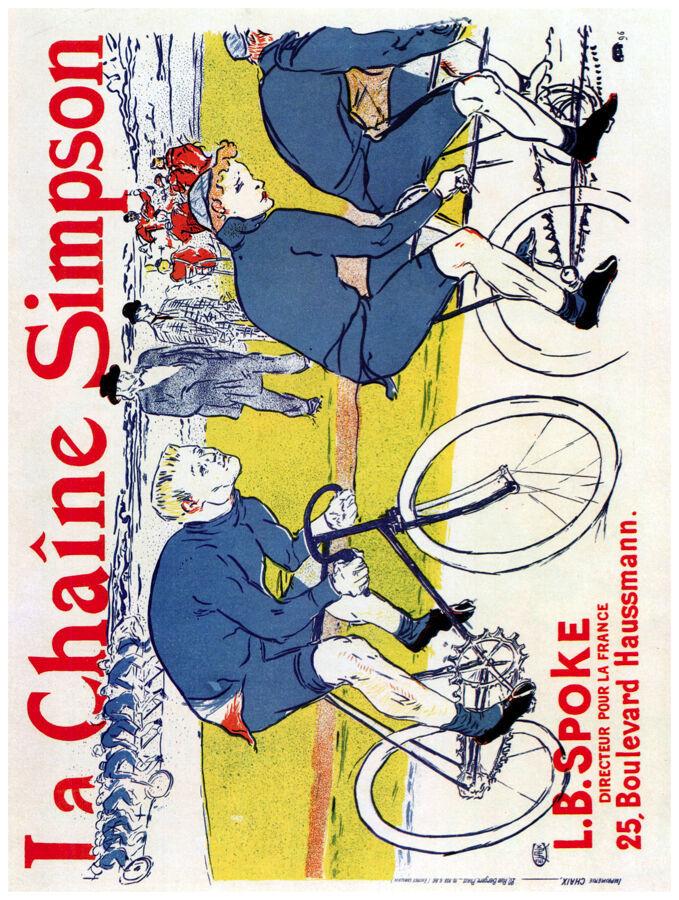 French Decor Poster.La Chaine Simpson Bicycle.Wall interior design.1524 - $11.30 - $70.13