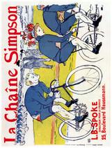 French Decor Poster.La Chaine Simpson Bicycle.Wall interior design.1524 - $11.30+