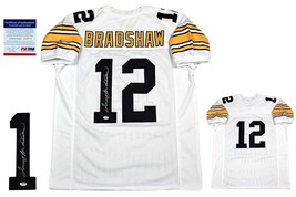 fcc8a4f9728 Terry Bradshaw Autographed SIGNED Custom Jersey - PSA/DNA Authentic - White  - $208.80