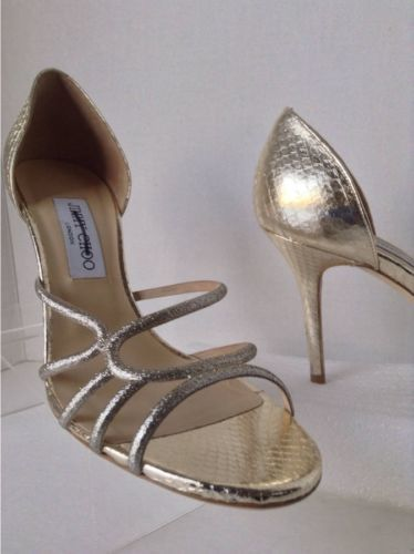 NEW Authentic JIMMY CHOO Straits D'Orsay Gold Sandals (Size 40.5) - MSRP $795.00 image 5