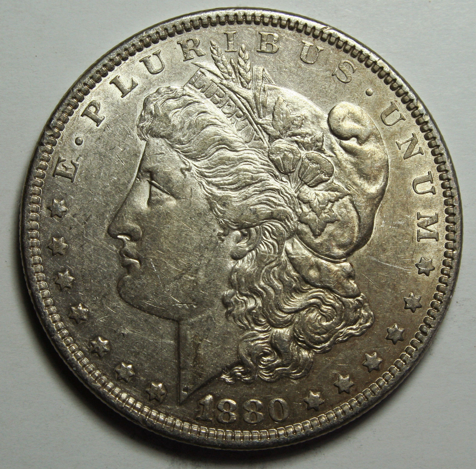 1880 MORGAN SILVER DOLLAR COIN Lot# D 7