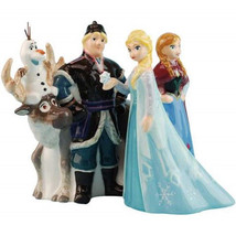 Walt Disney Frozen Movie Main Cast of 5 Ceramic Salt and Pepper Shakers Set NEW - $31.92