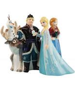 Walt Disney Frozen Movie Main Cast of 5 Ceramic Salt and Pepper Shakers ... - $38.69