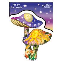Double Mushroom Outside Window Sticker  Car Decal  Hippies - $5.49