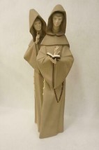 Lladro Gres Priests Frailes Monks at Prayer 1982-2002 No box Made in Spain - $197.99