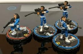 Lot ofHeroclix SHIELD Medic #006 + 3 Sniper #005 Veteran Marvel figures ... - $7.91