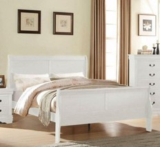 Twin Full Queen King White Finish Wooden Sleigh Bed Frame Headboard Foot... - $230.57+
