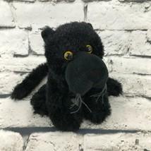 Webkinz Ganz Black Panther Plush Yellow Eyes Stuffed Animal Soft Toy Wil... - $7.91