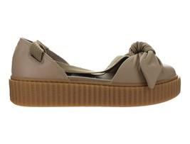 8742564ce35 Womens Puma x Fenty By Rihanna Bow Creeper Sandal Natural Oatmeal 365794-03  - £