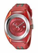 Gucci SYNC XXL Red Rubber Strap 46mm Unisex Watch YA137103 - $525.00 CAD