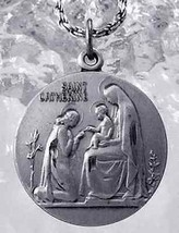 Sale Saint Catherine Marriage Christ Infant Jesus Charm Sterling Silver .925 Jew - $29.50