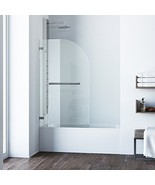 VIGO Orion 34-in. Curved Bathtub Door with .3125-in. Clear Glass and Chr... - $279.22