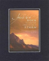 Jesus is a Rock . . . 8 x 10 Inches Biblical/Religious Verses set in Dou... - $11.14
