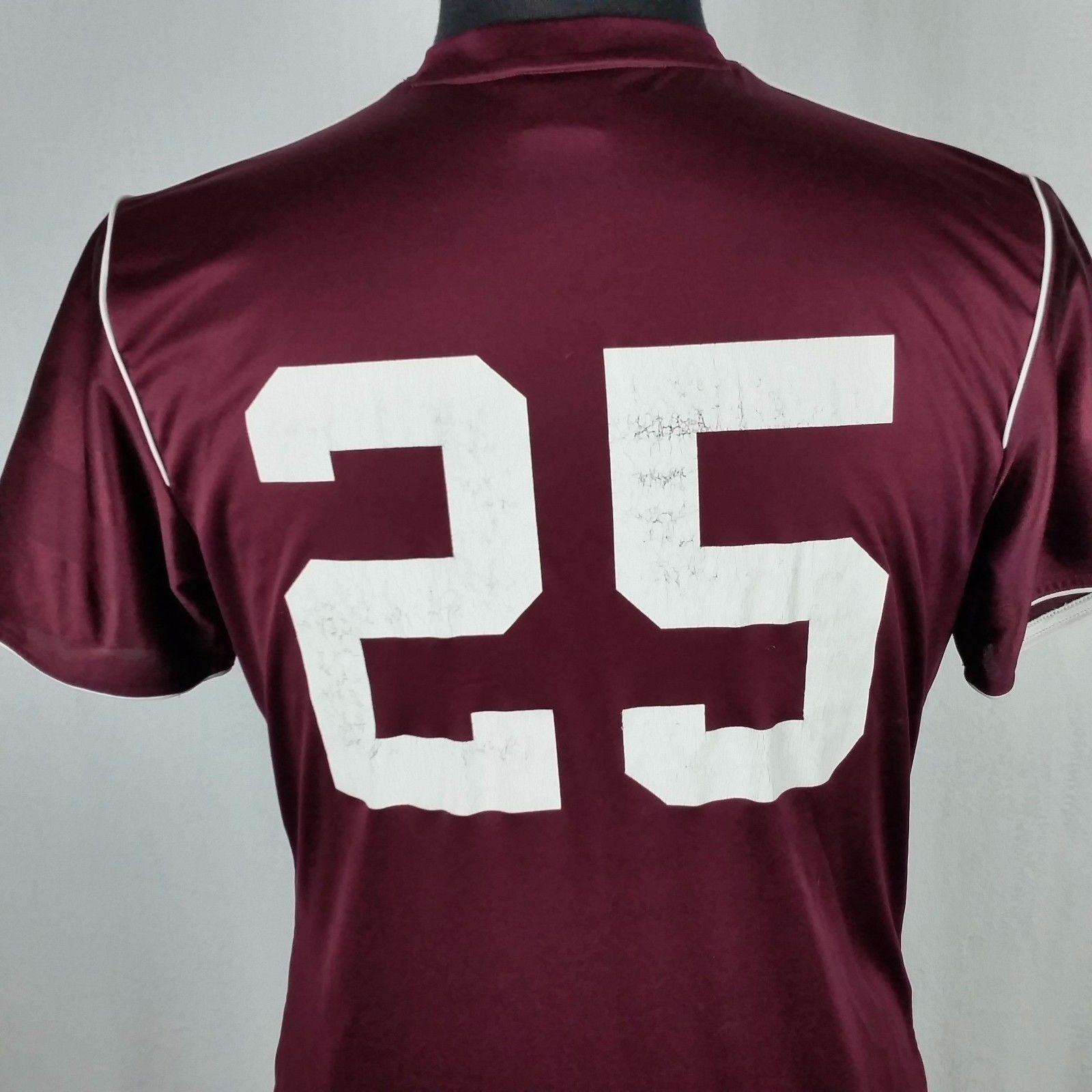 Colorado Rapids Adidas Climalite Mens Med Maroon Burgundy Soccer Jersey