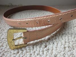 """Vintage Snake Skin Belt Jana for Magid Orange / Pink Size L  30 to 32"""" W... - $16.95"""