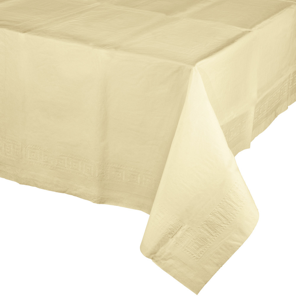 Ivory 54 x 108 Tissue/Poly Tablecover/Case of 24
