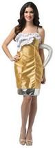 Beer Mug Womens Costume Dress Adult Alcohol Halloween SZ 4-10 GC6338 - $47.99