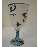 "A Feldman Bride of Frankenstein Cup Chalice Goblet 7"" Funky & Cute Halloween - $24.99"