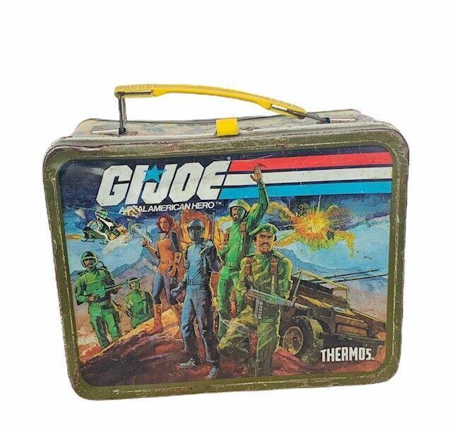 Gi Joe Lunchbox 1982 Hasbro vtg lunch box metal Snake Eyes Stalker Scarlett Duke - $67.68