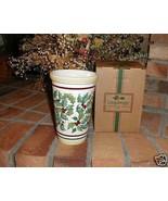 Longaberger Pottery Vase American Holly  New Original Box Vitrified Made... - $36.58