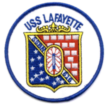 """4.125"""" USS NAVY SSBN-616 LAFAYETTE EMBROIDERED PATCH - $16.24"""