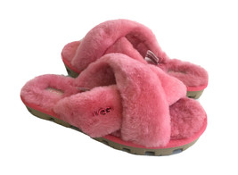 UGG FUZZETTE STRAWBERRY SORBET MOCASSIN SLIP ON SANDAL US 8 / EU 39 / UK 6 - $83.22