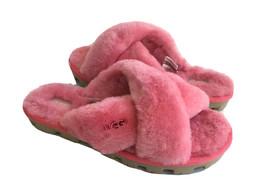 Ugg Fuzzette Strawberry Sorbet Mocassin Slip On Sandal Us 8 / Eu 39 / Uk 6 - $83.22