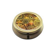 Portable Pill Dispenser Box Copper Small Medicine Box #4 - $393,97 MXN