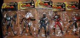 "Masked Rider Kamen Ryuki Figures x 5 2002 Japan Banpresto 6"" Tall - $53.10"