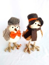 """Set of 2 Bird Figurines 8""""H Fall Decor Thanksgiving Home Collection Tabl... - $24.25"""