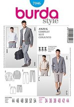 BURDA STYLE 7046 MEN'S SUIT - JACKET, SHORTS & PANTS SEWING PATTERN MEN'... - $13.72
