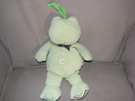 Carters Music Stuffed Plush Frog Brown Stripe Polka Dot Ribbon Crib Pull Toy - $28.21