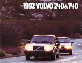 1992 Volvo 240 740 SEDANS sales brochure catalog US 92 GL - $8.00