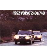1992 Volvo 240 740 SEDANS sales brochure catalog US 92 GL - $8.00